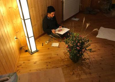 CentroArte Wochenendseminar Potenzial entfalten Kunsttherapie Abendstimmung